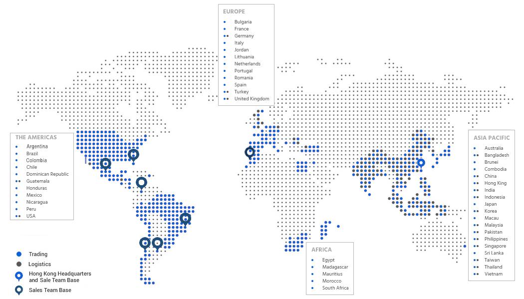 Mapa da Overseas